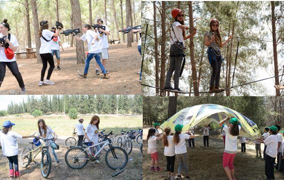 שולפים מהבטן - משתתפים בפעילויות אתגריות ביער