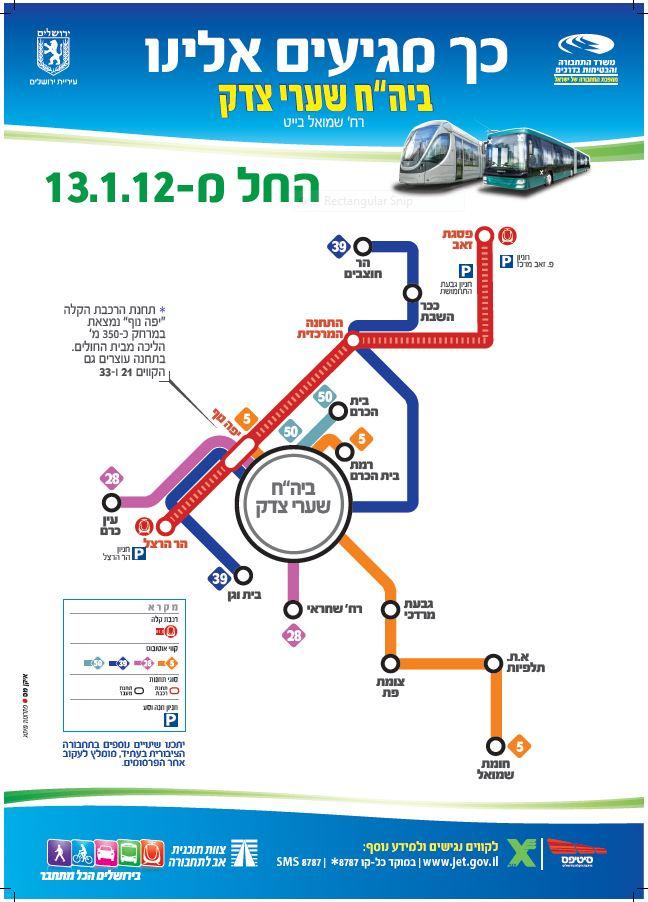 מפת הרכבת הקלה - תחנת יפה נוף