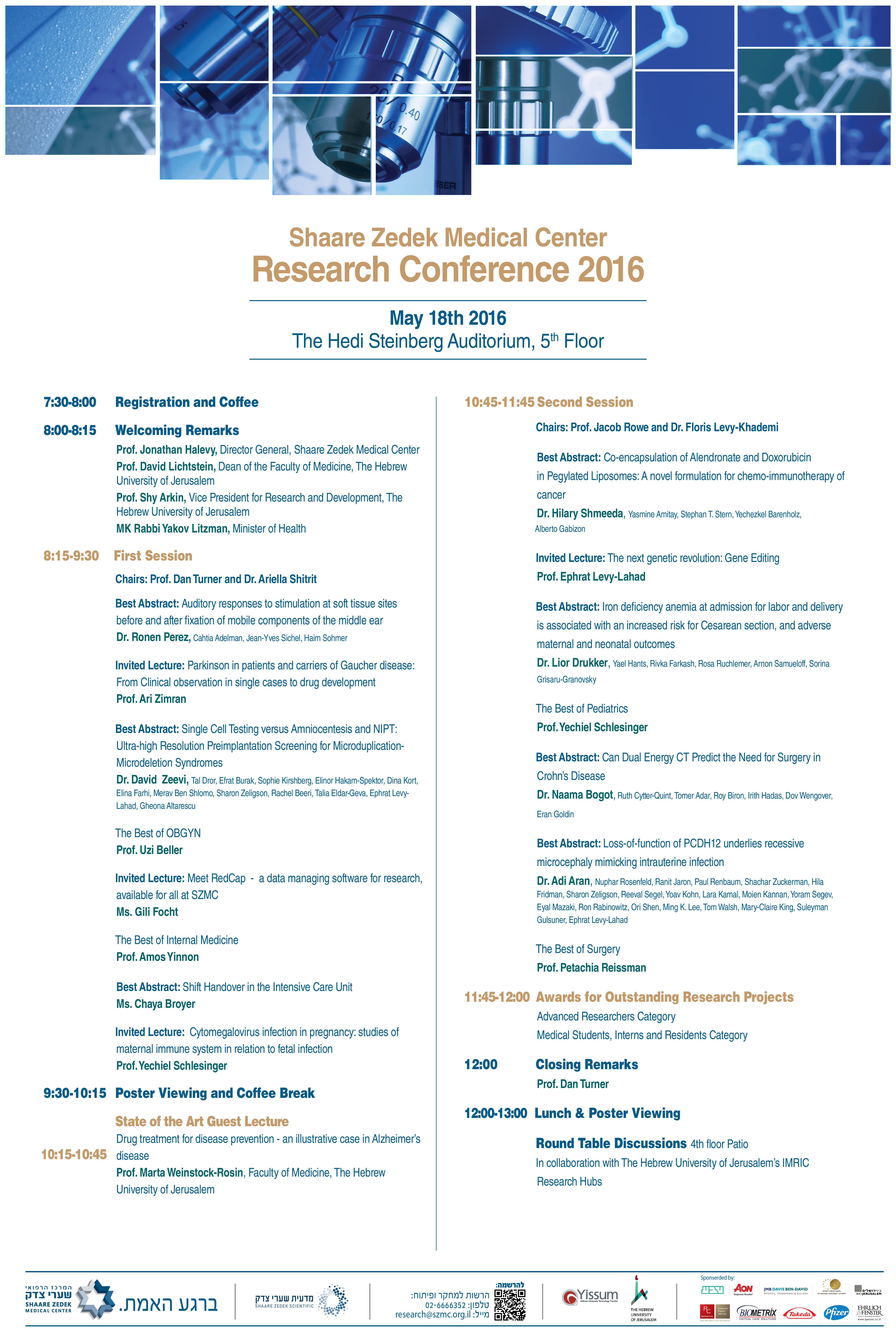 2016 research conference schedule