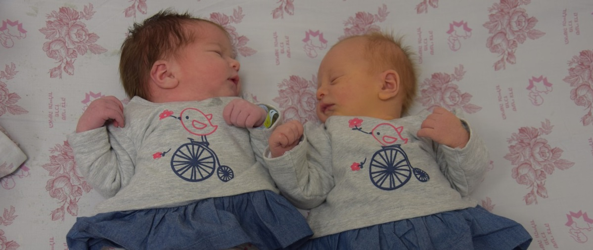 Two cousins born on the same day, discharged from Nursery D